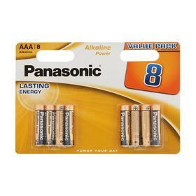 Батарейка алкалиновая Panasonic Alkaline Power, AAA, LR03-8BL, 1.5В, блистер, 8 шт.