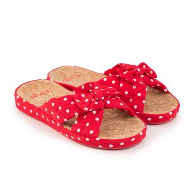 Тапочки женские, цвет красный, размер 39