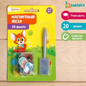 Развивающий набор «Магнитный жезл», с фишками мини Ош