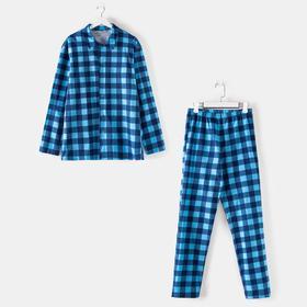 Комплект (рубашка, брюки) мужской «Креатив» цвет синий, размер 46