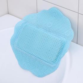 Подушка для ванны с присосками «Лотос», 33×33 см, цвет МИКС Ош