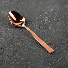 Ложка чайная «Астра», h=13,8 см, толщина 2,5 мм, цвет красное золото