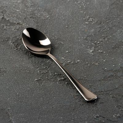 Ложка чайная «Мондиал», h=13,5 см, толщина 2 мм, цвет графит - Фото 1