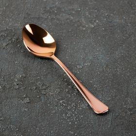 Ложка чайная «Мондиал», h=13,5 см, толщина 2 мм, цвет красное золото
