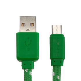 Кабель Crown CMCU-3052M, micro USB - USB, 2 А, 1 м, зеленый