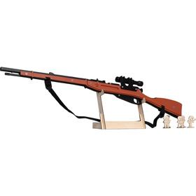 Резинкострел из дерева «Винтовка Мосина с прицелом и штыком»