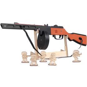 Резинкострел из дерева «ППШ», окрашенный