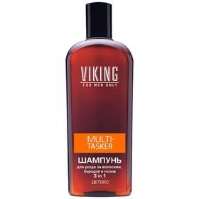 Шампунь для ухода за волосами, бородой и телом 3 in 1 Viking Multi-Tasker, детокс, 300 мл