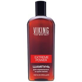 Шампунь для нормальных и сухих волос Viking Extreme Power, увлажняющий, 300 мл