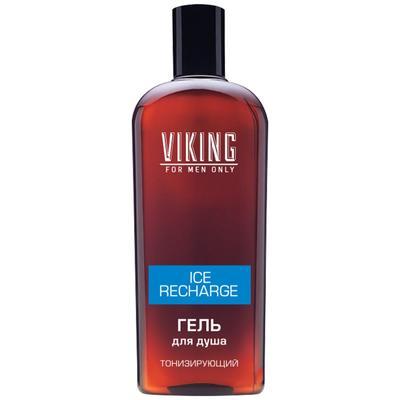 Гель для душа Viking Ice Recharge, тонизирующий, 300 мл - Фото 1