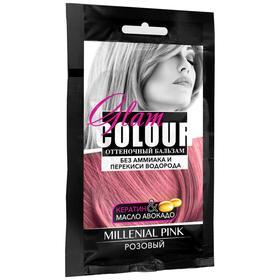 Оттеночный бальзам для волос Fara Glam Colour, розовый, 40 мл
