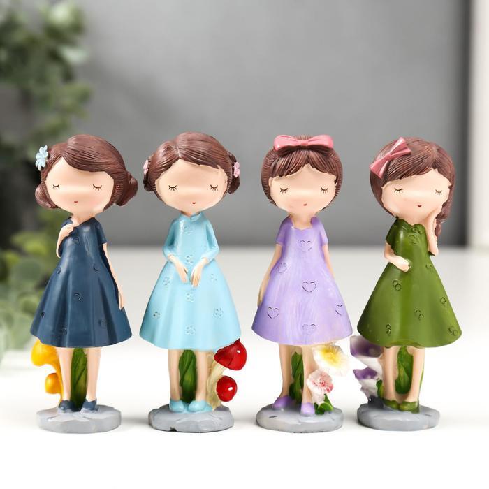 Сувенир полистоун Малышка в винтажном платье МИКС 11х4,7х7 см