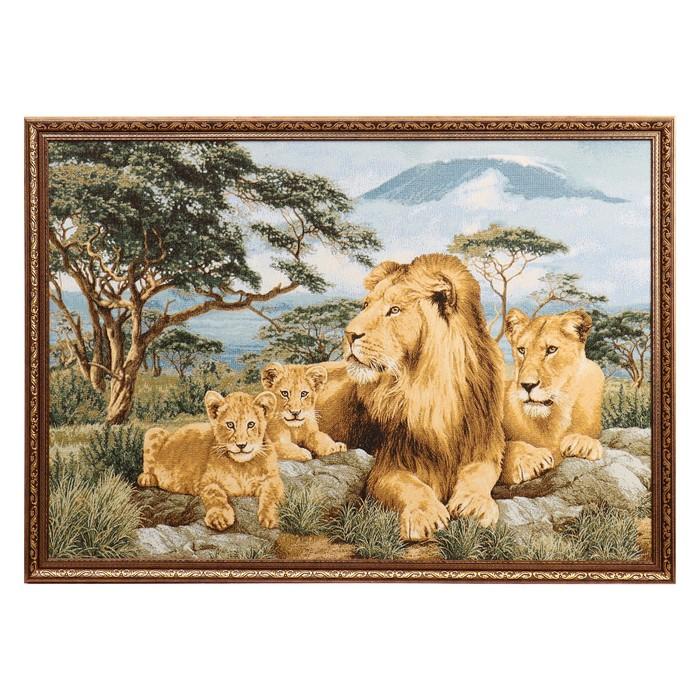 """Гобеленовая картина """"Африканские львы"""" 112х75 см"""