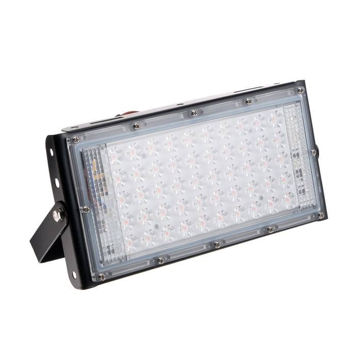Прожектор ФИТО светодиодный модульный Luazon Lighting, для растений, 50Вт, IP65, 220В Черный