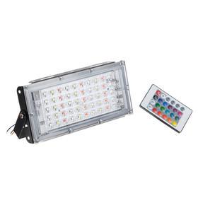 Прожектор светодиодный модульный RGBW, с пультом, 45Вт, 220В Черный Ош