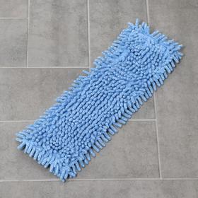 Насадка для плоской швабры, 40×10 см, микрофибра букли, цвет МИКС