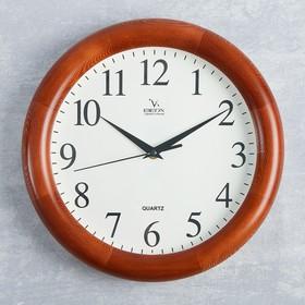 Часы настенные круглые 'Классика', деревянные Ош