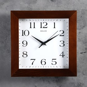Часы настенные квадратные 'Классика', деревянные Ош