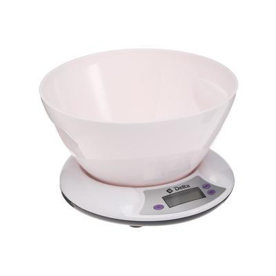Весы кухонные DELTA KCE-01, электронные, до 5 кг, белые - Фото 1