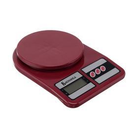 """Весы кухонные """"ВАСИЛИСА"""" ВА-012, электронные, до 5 кг, бордовые"""