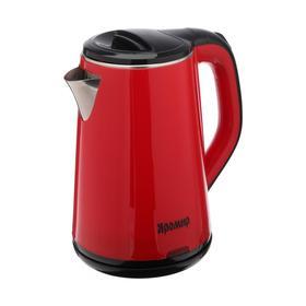 """Чайник электрический """"ЯРОМИР"""" ЯР-1059, пластик, 1.8 л, 1500 Вт, красный"""