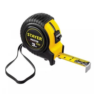 Рулетка STAYER MASTER 34025-03_z01, в ударостойком обрезиненном корпусе, 3м х 16мм