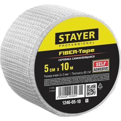 Серпянка самоклеящаяся STAYER Professional FIBER-Tape 1246-05-10_z01, 5 см х 10м - Фото 1