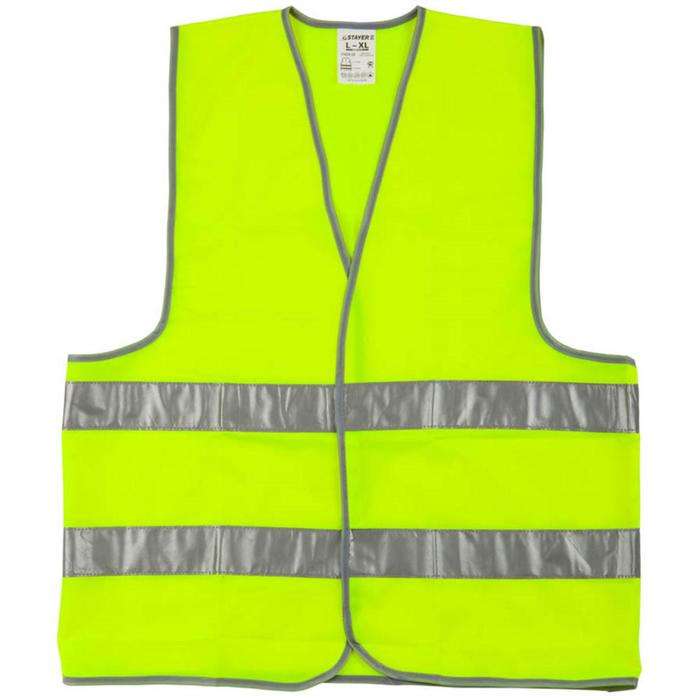 """Жилет сигнальный STAYER """"MASTER"""" 11620-50, желтый, размер XL (50-52)"""