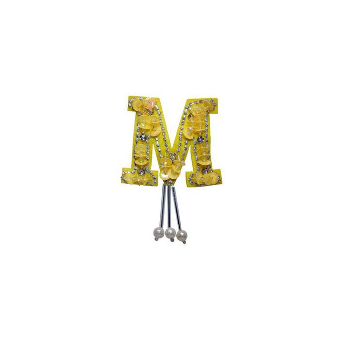 Аппликация «Буква m», размер 7x5 см