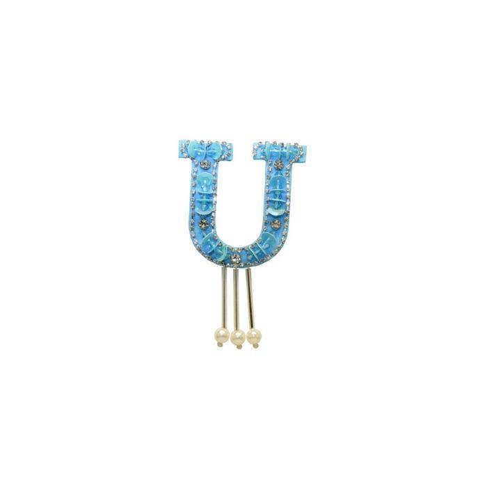 Аппликация «Буква u», размер 7x5 см