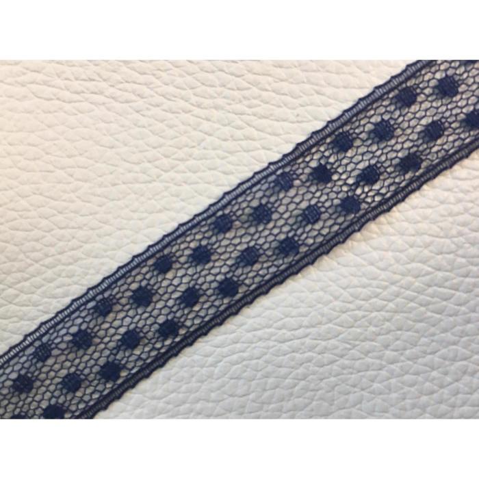 Кружево, размер 1,3 см, 1 м, цвет синий