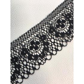 Кружево, размер 4 см, 1 м, цвет чёрный Ош