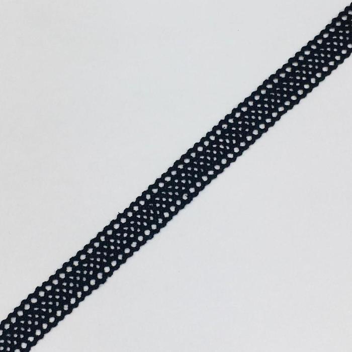 Кружево, размер 1 см, 1 метр, цвет чёрный