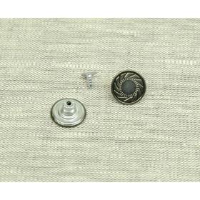 Пуговица ПД092, размер 17 мм, цвет тёмное серебро Ош