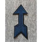 Термоаппликация «Стрела синяя», размер 8,5x3 см