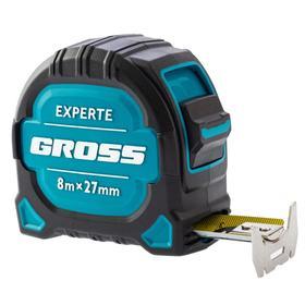 Рулетка Gross Experte 32576, двухкомпонентный корпус, магнит, нейлон, 8 м х 25 мм
