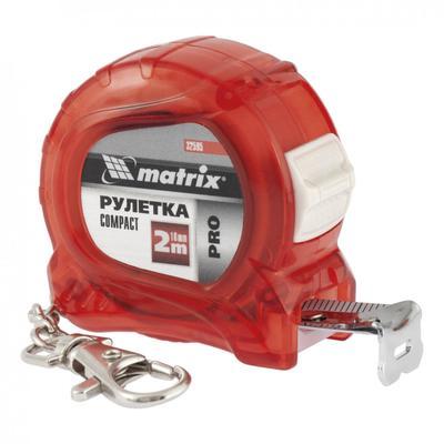 Рулетка Matrix PRO Compact 32595,  компактный размер, карабин-держатель, 2 м x 16 мм