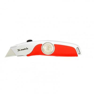 Нож Matrix 78926, выдвижное трапецивидное лезвие, двухкомпонентная ручка