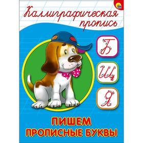 Пишем прописные буквы (собака)