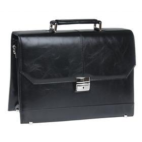 Портфель мужской, цвет черный, 360x270x140