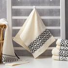 Полотенце махровое Этель «Орнамент», молочное 30х70 см, 100% хл, 370гр/м2 - Фото 1