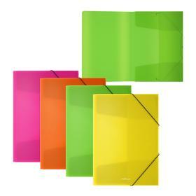 Папка на резинках А5+ ErichKrause Diagonal Neon микс 50384 Ош