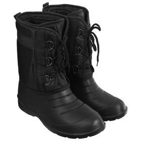Сапоги зимние «Аляска» мужские, цвет чёрный, на шнуровке, размер 42/43