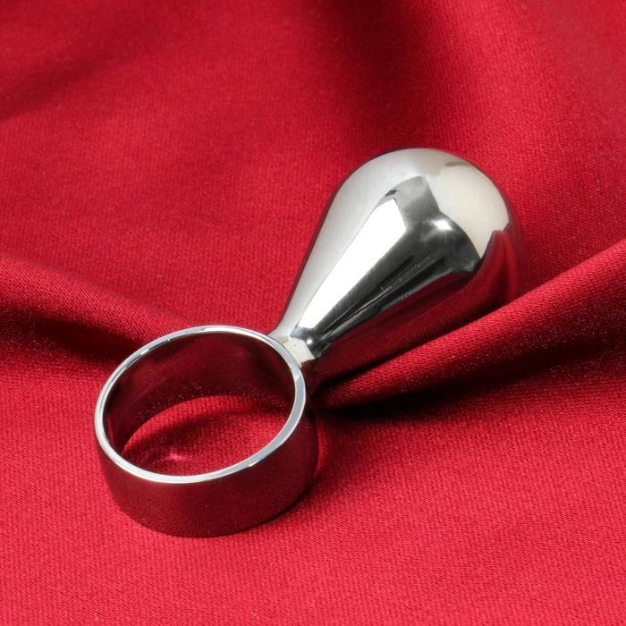 """Анальная пробка """"Груша"""" с кольцом, D = 25 мм"""