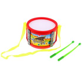 Барабан малый «Веселье», цвета МИКС