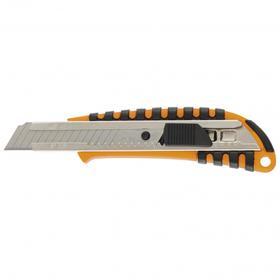 Нож универсальный Sparta 78939, выдвижное лезвие, пластиковый 2К корпус, 18 мм
