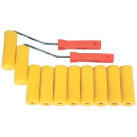 "Набор мини-валиков Sparta 802835, ""ПОРОЛОН"", 100 мм, D 35 мм, D ручки 6 мм, 10 штук"