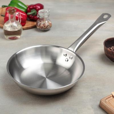 Сковорода, d=22 см, тройное дно, индукция - Фото 1