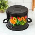 Кастрюля цилиндрическая, 7 л, цвет коричневый, деколь МИКС - Фото 3