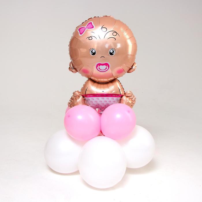 """Букет из шаров """"Малышка."""", фольга, латекс, набор 9 шт."""